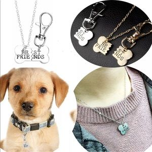 Jewelry - 🐈Pet lovers necklace and charm duo🐈